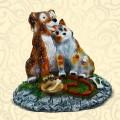 Декоративная крышка люка Собака с Кошкой